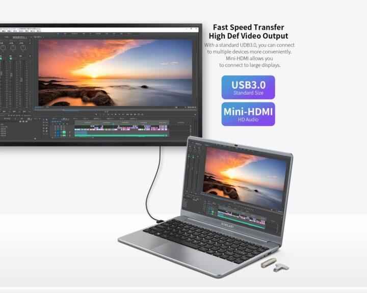 Offerta-Teclast-F7-Plus-3-4-720x575 Offerta Teclast F7 Plus 3 a 339€: Nuova Generazione Notebook Cinese 2021