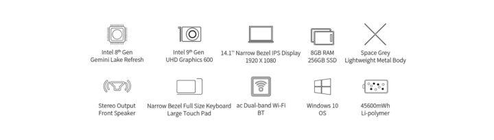 Offerta-Teclast-F7-Plus-3-6-720x204 Offerta Teclast F7 Plus 3 a 339€: Nuova Generazione Notebook Cinese 2021