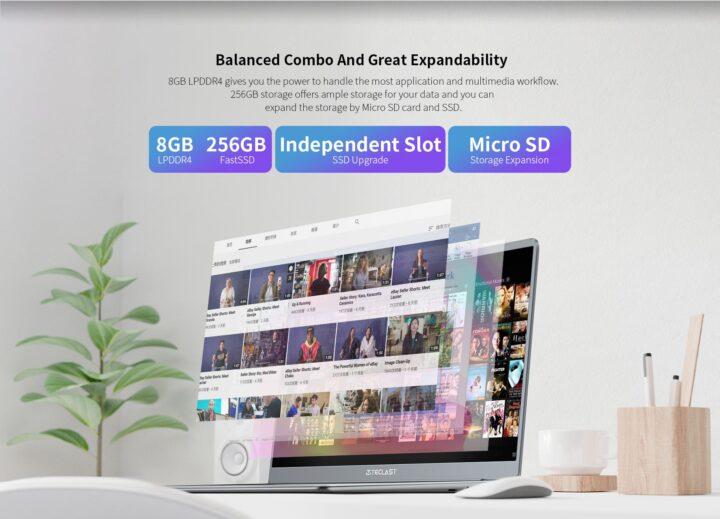 Offerta-Teclast-F7-Plus-3-7-720x519 Offerta Teclast F7 Plus 3 a 339€: Nuova Generazione Notebook Cinese 2021