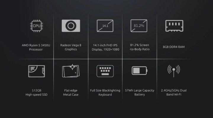 offerta-BMAX-X14-Pro-6-720x401 Offerta BMAX X14 Pro a 427€, Ultrabook Cinese con AMD Ryzen R5-3450U
